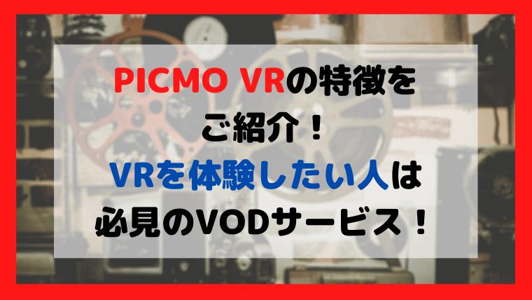 PICMO VRの特徴をご紹介
